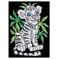 Картина с пайеток Sequin Art RED Toby the White Tiger Cub (SA0906)